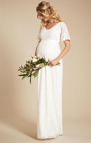 927235c2e Tiffany Rose smotanové dlhé svadobné tehotenské šaty s krátkym rukávom 238TR