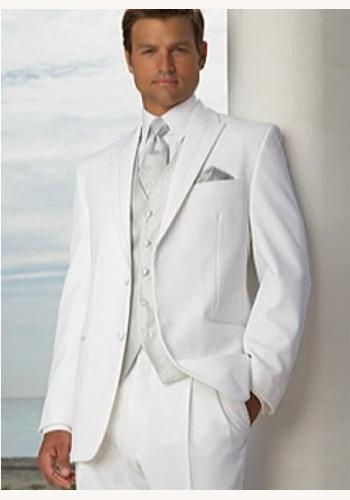 Biely pánsky svadobný 4-dielny oblek 055DG 9c9157ae24f