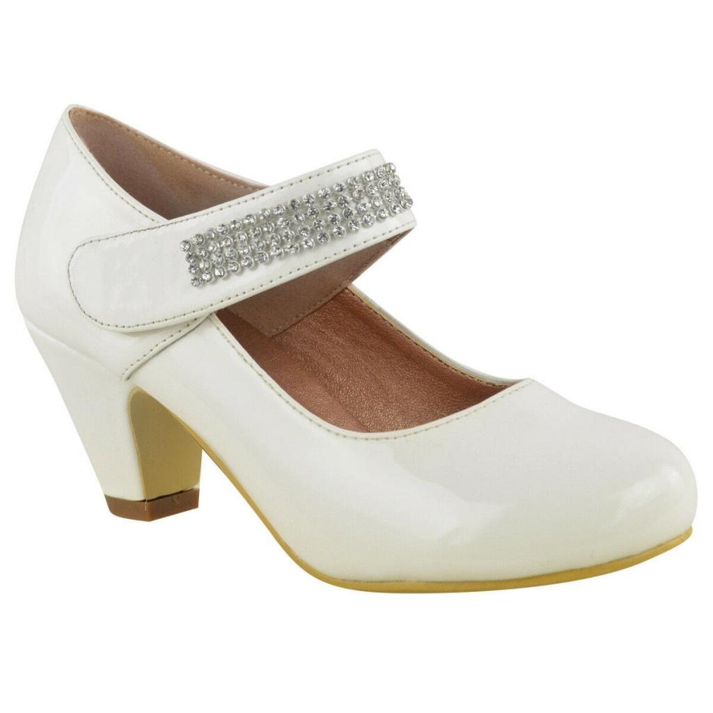 2040dd7972dc Biele lakované topánky na nízkom opätku 022E - Salón Emily