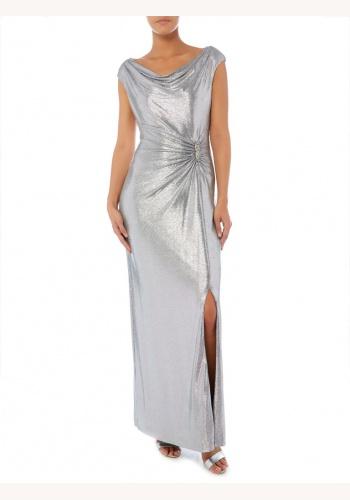 937b833aa18f Ralph Lauren strieborné dlhé šaty 444RL