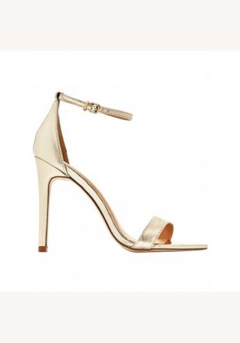 08e7926bc21f Zlaté sandále na vysokom opätku 075V