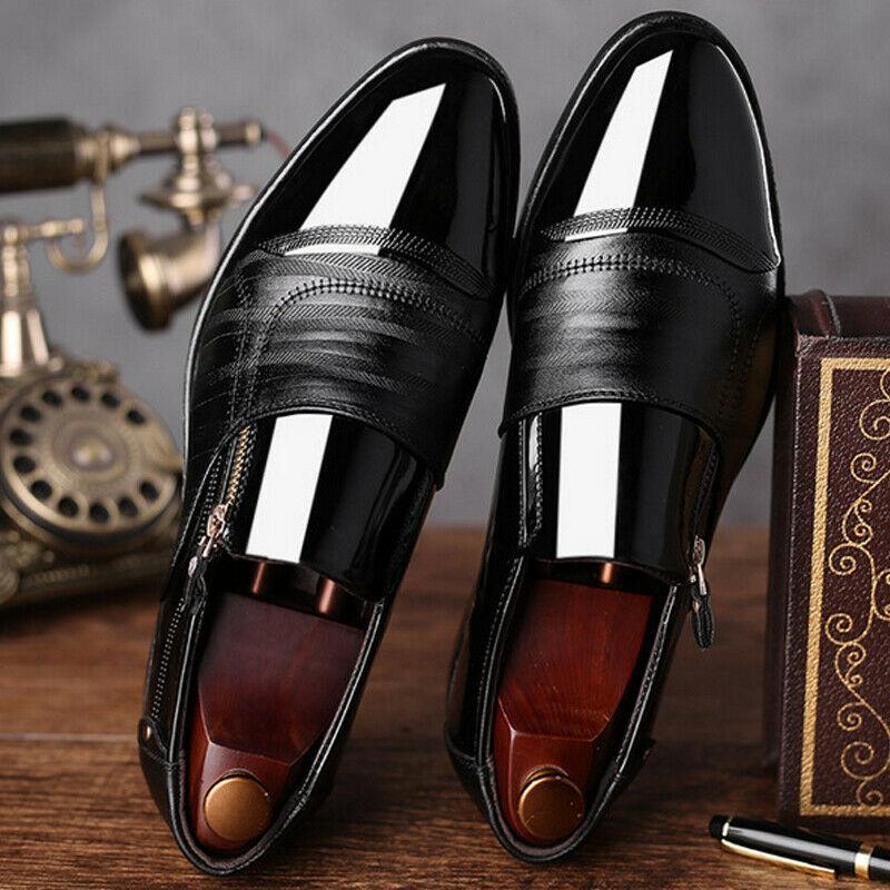 38cef900c Čierne pánske lakované kožené topánky 011E - Salón Emily