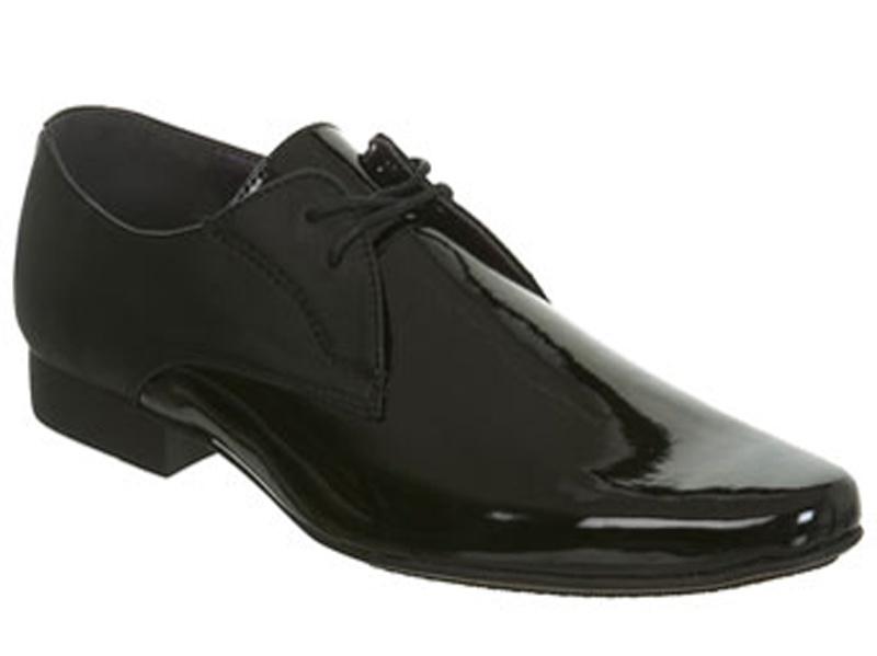 db08e0b12 Čierne pánske lakované topánky na šnurovanie 004 - Salón Emily