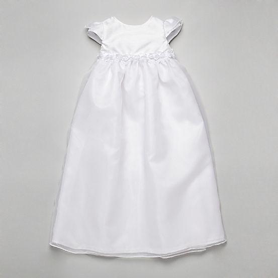 Biele dievčenské šaty na krst 001 7b750cc0690