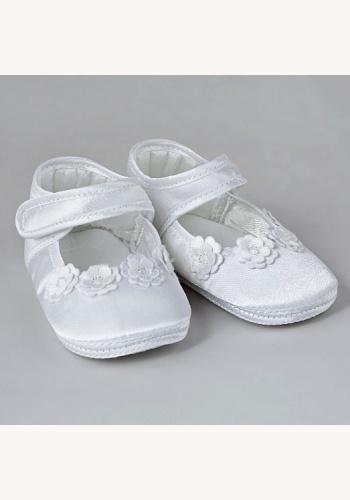 ca085c528e Biele saténové topánočky na krst 005