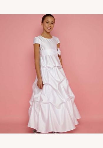 Biele dlhé šaty na 1. sväté prijímanie s krátkym rukávom 005 956e2344828