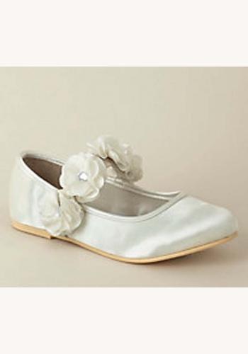 7b03201a8a Biele saténové balerínky s kvetmi 008