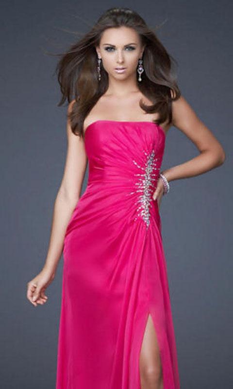 Ružové dlhé korzetové šaty s flitrami s rozparkom 027 54abf4752a