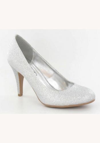 922027e6c95b4 Biele trblietavé topánky na strednom opätku 037