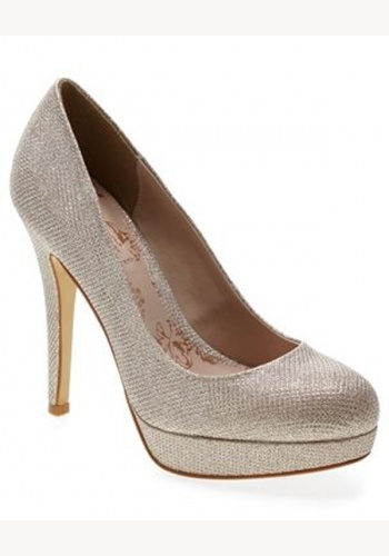 6998f7030bd18 Zlaté trblietavé topánky na vysokom opätku 040